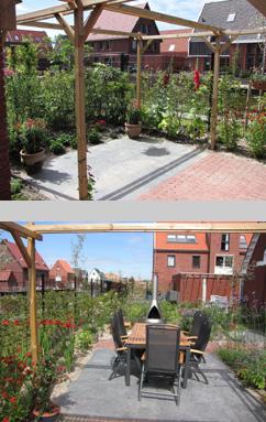 Blonk tuinontwerp projecten - Terras en tuin ontwikkeling foto ...